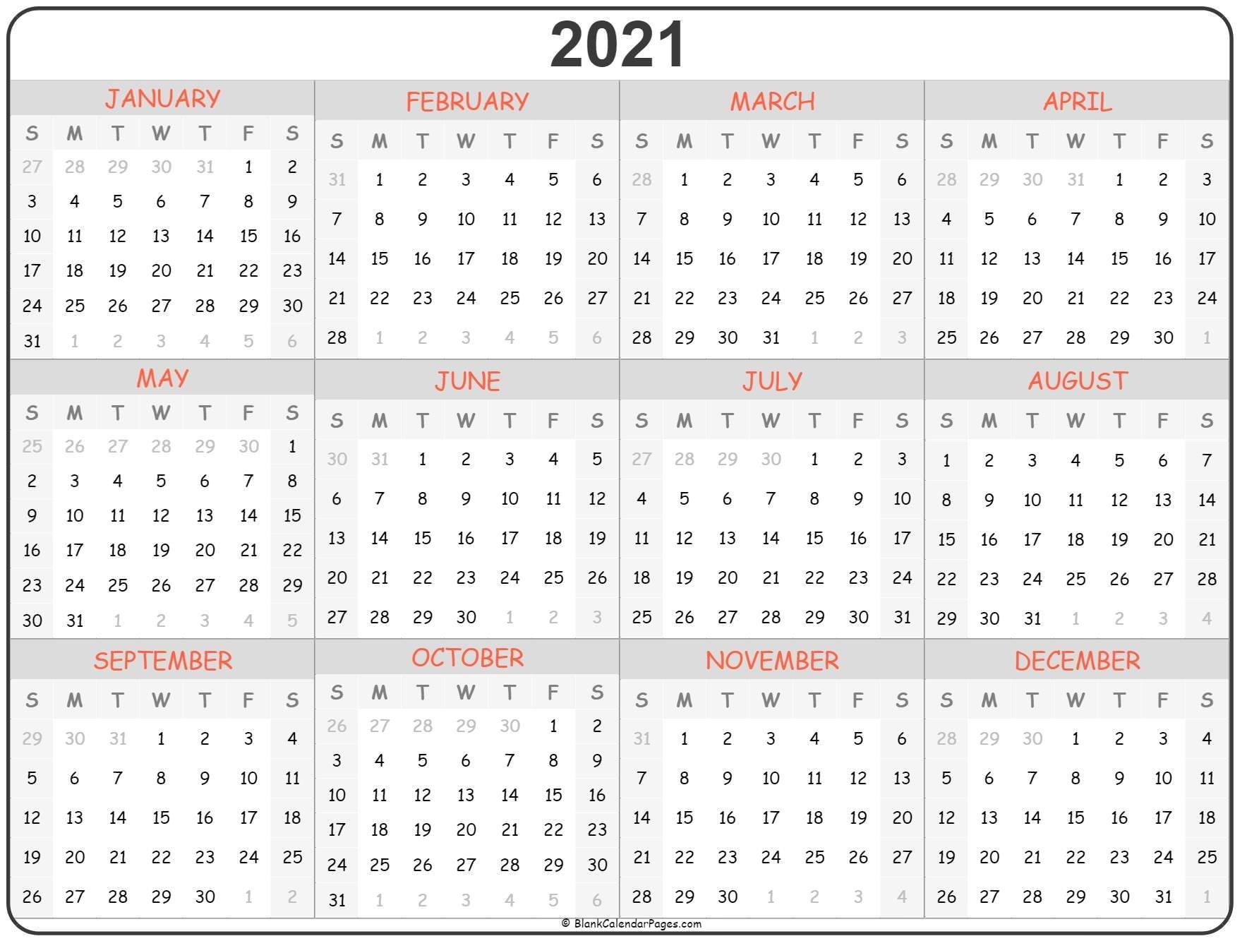 Coloring Pages 2021 Calendar | Ten Free Printable Calendar