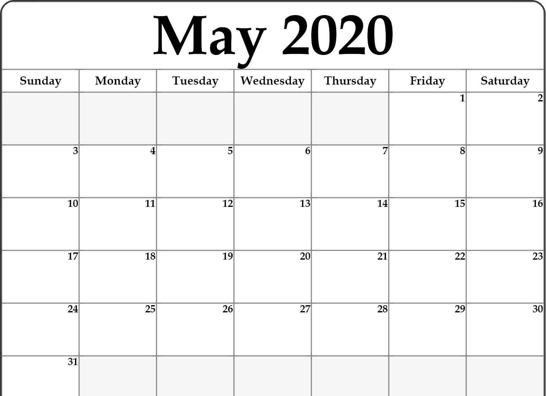 Create Your Free Fillable Monday Through Friday Calendar
