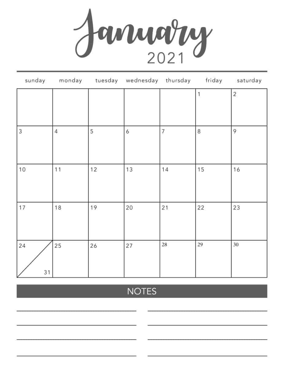 Create Your Printable Calendar 2021 No Download   Get Your