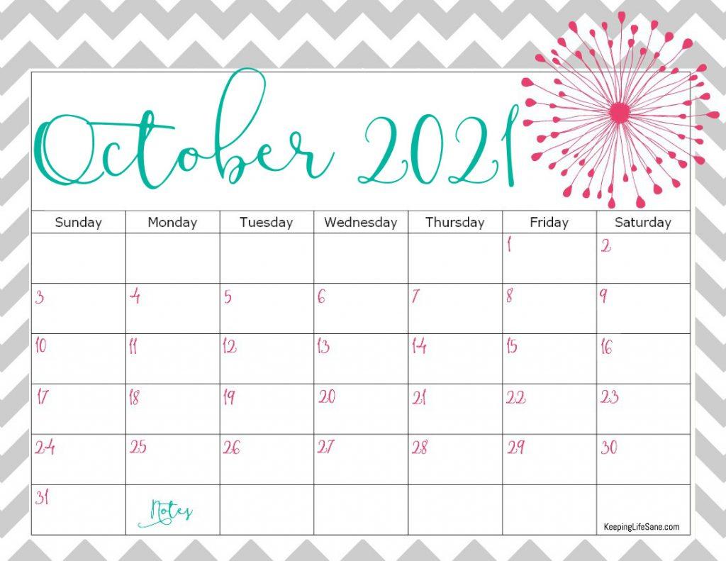 Cute 2021 Printable Blank Calendars / Free Printable 2021