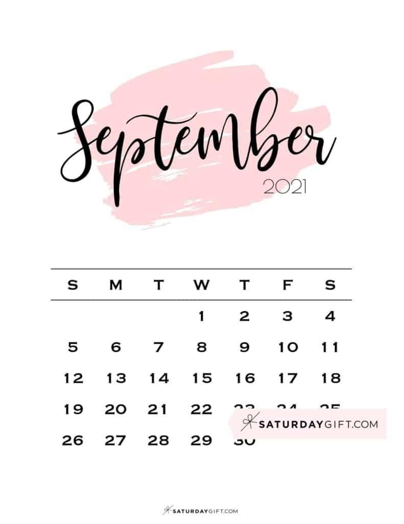 Cute (& Free!) Printable September 2021 Calendar