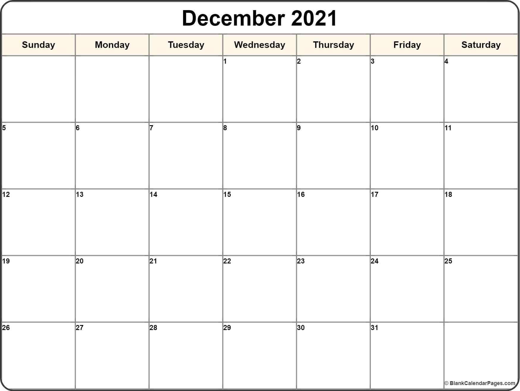 December 2021 Calendar | 56+ Templates Of 2021 Printable
