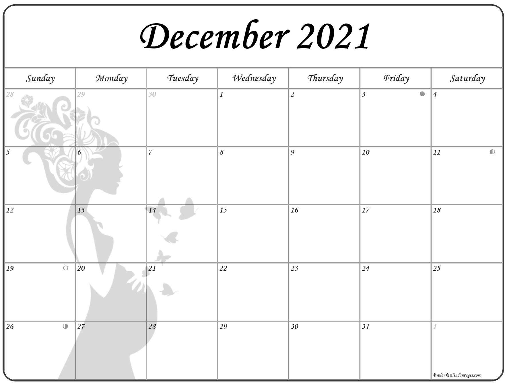 December 2021 Pregnancy Calendar   Fertility Calendar