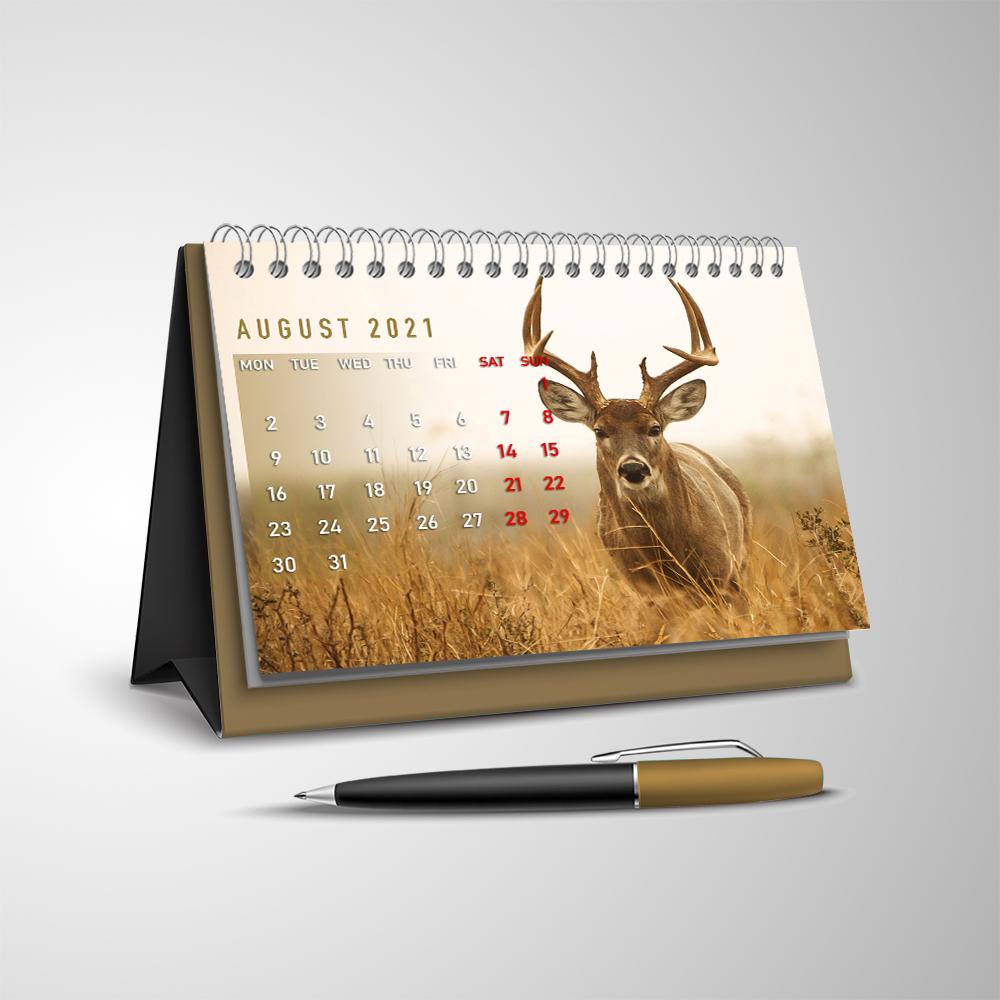 Deer Hunting 2021 V2 Desk Calendar I2D5 - Buzzcrafty