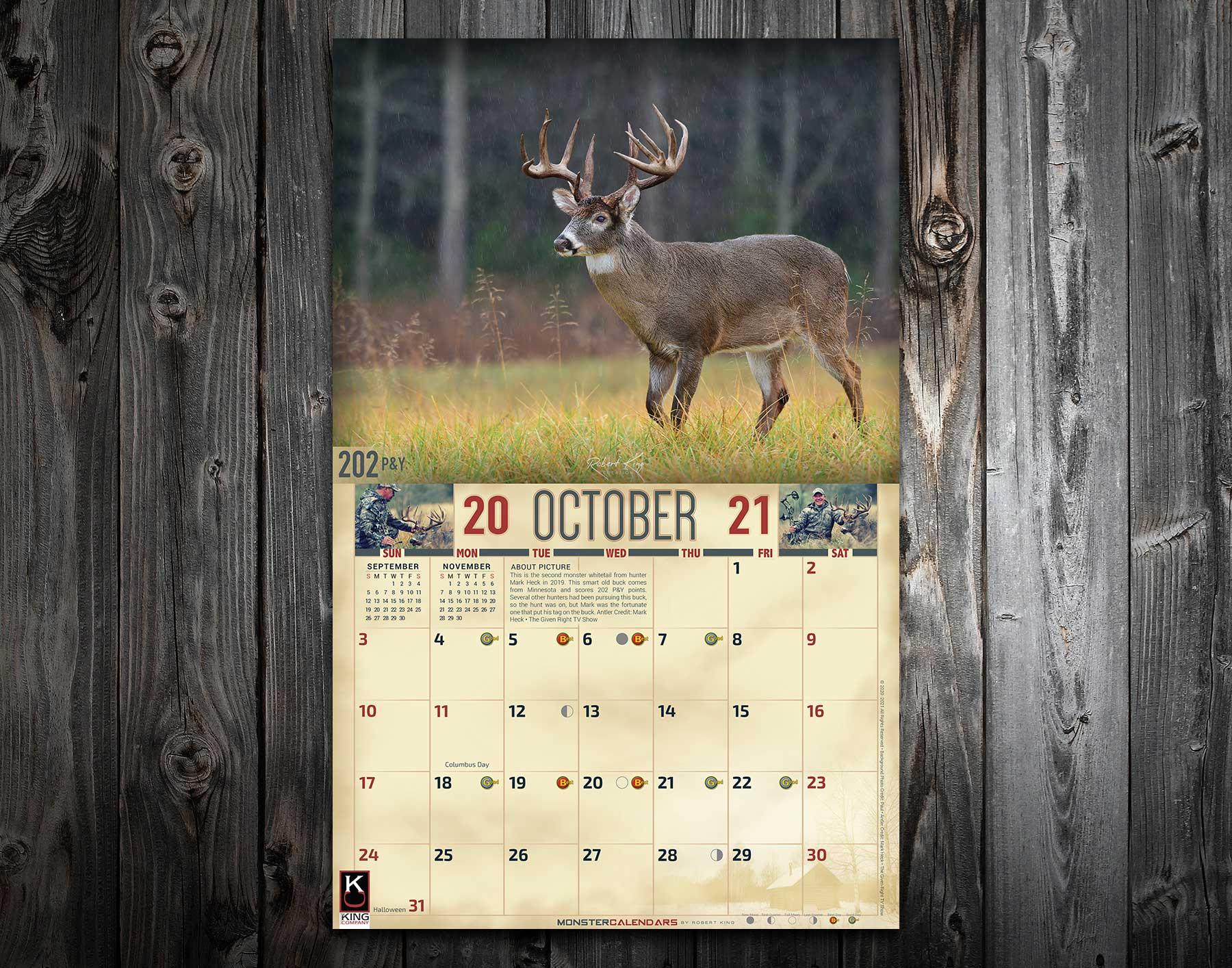 Deer Rut Calendar 2021 | 2022 Calendar