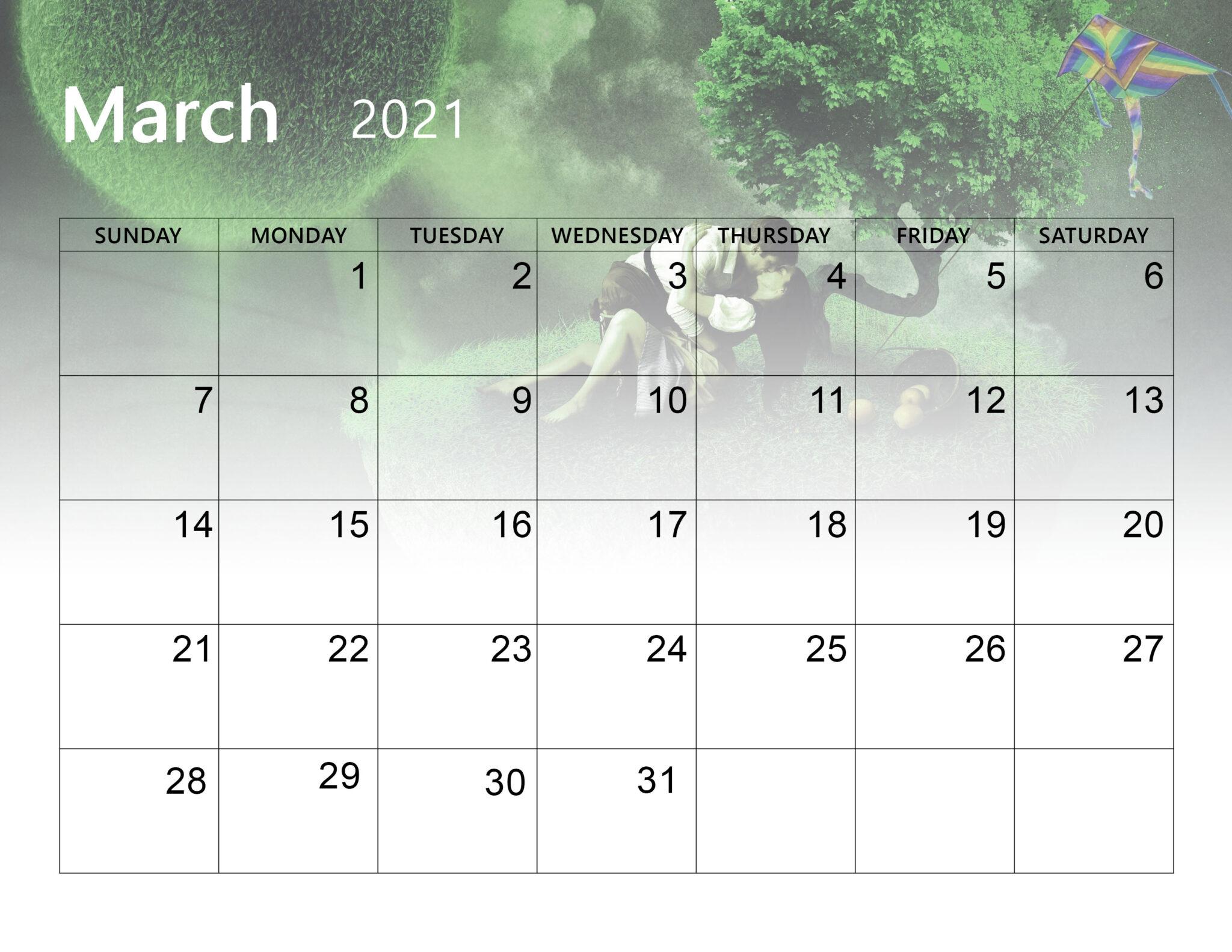 Download Cute March 2021 Calendar - Thecalendarpedia