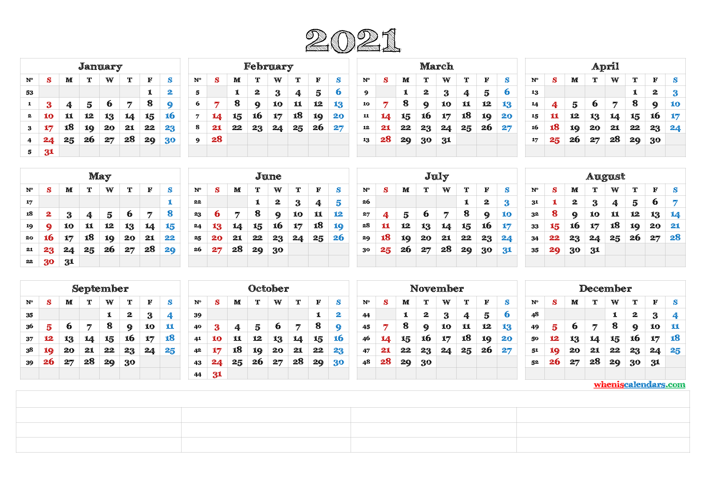 Downloadable 2021 Monthly Calendar (6 Templates) | Free