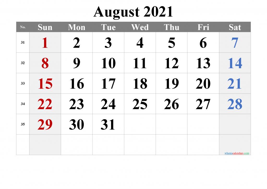 Editable Free Printable 2021 Calendar With Holidays