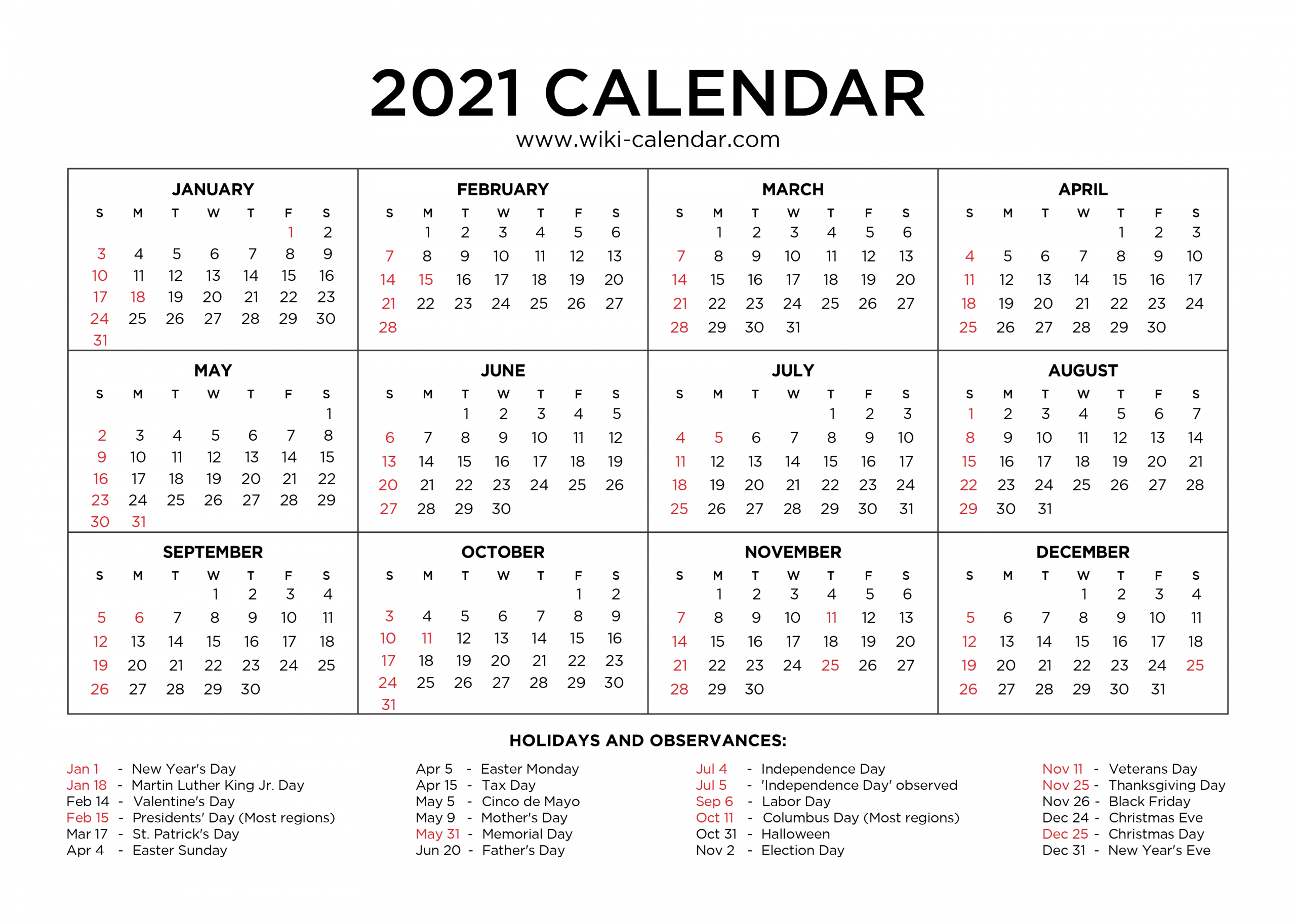 Effective Free Downloadable 2021 Calendar | Get Your