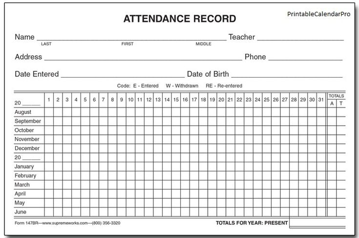 Employee Attendance Calendar 2017,Employee Attendance