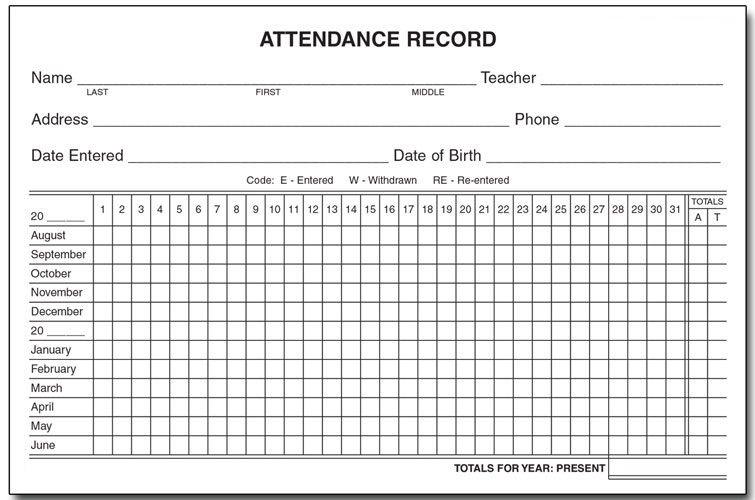 Employee Attendance Calendar | Tracker Template 2020
