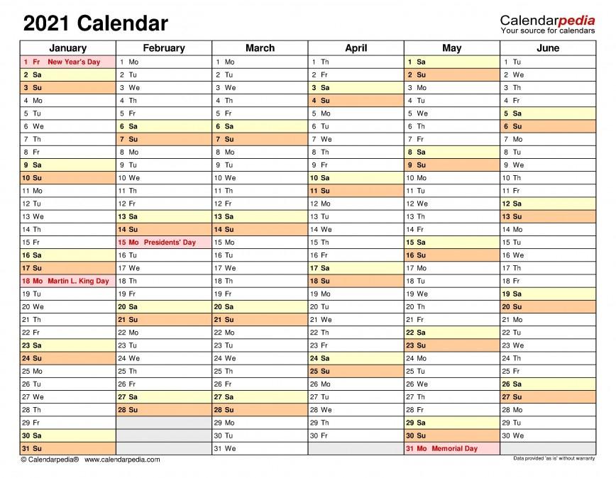 Excel Calendar 2021 Template ~ Addictionary