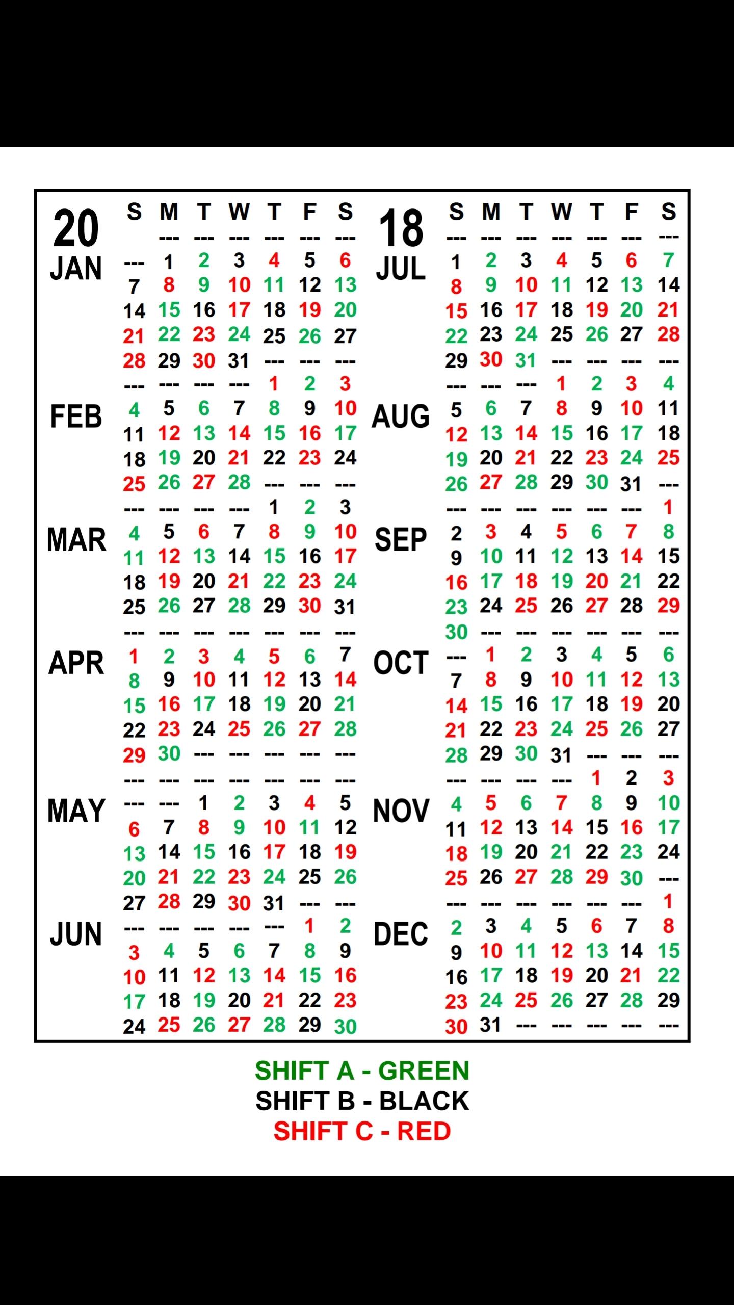 Firefighter Red Shift Calendar 2021 Printable Free