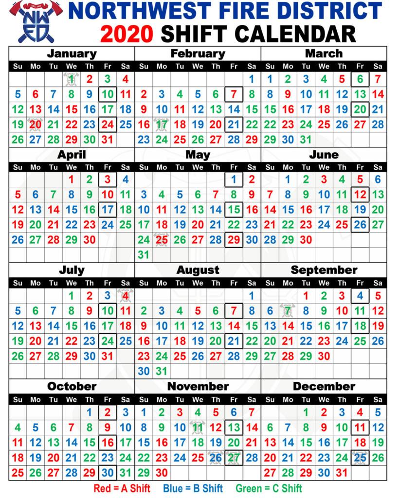 Firefighter Shift Calendar 2021   Printable Calendars 2021