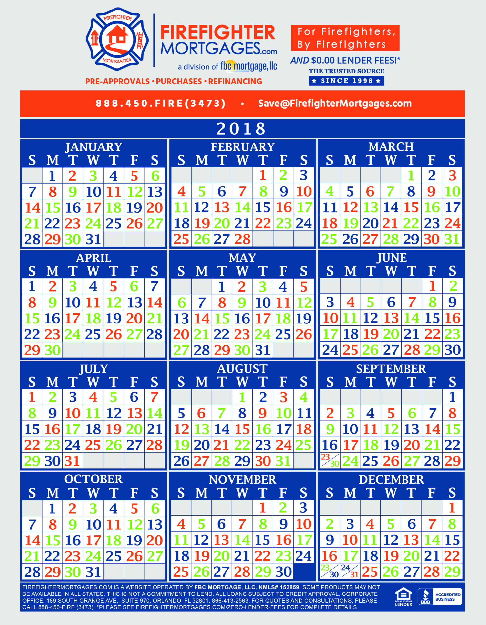 Printable 2021 Shift Calendars For Firefighters