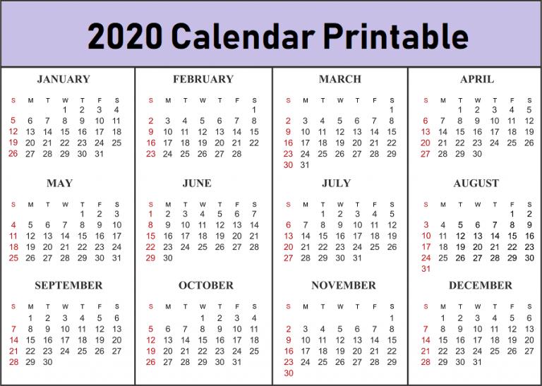 Free 2020 Printable Calendar Templates - Create Your Own