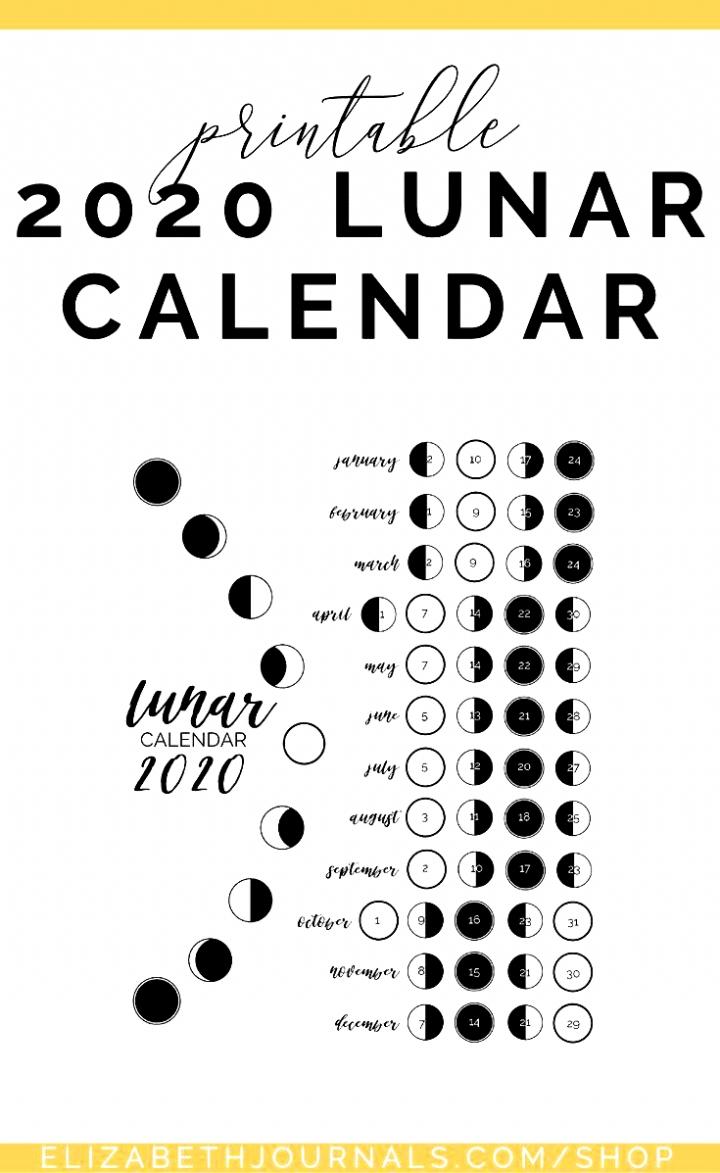 Free 2021 Lunar Calendar | Month Calendar Printable