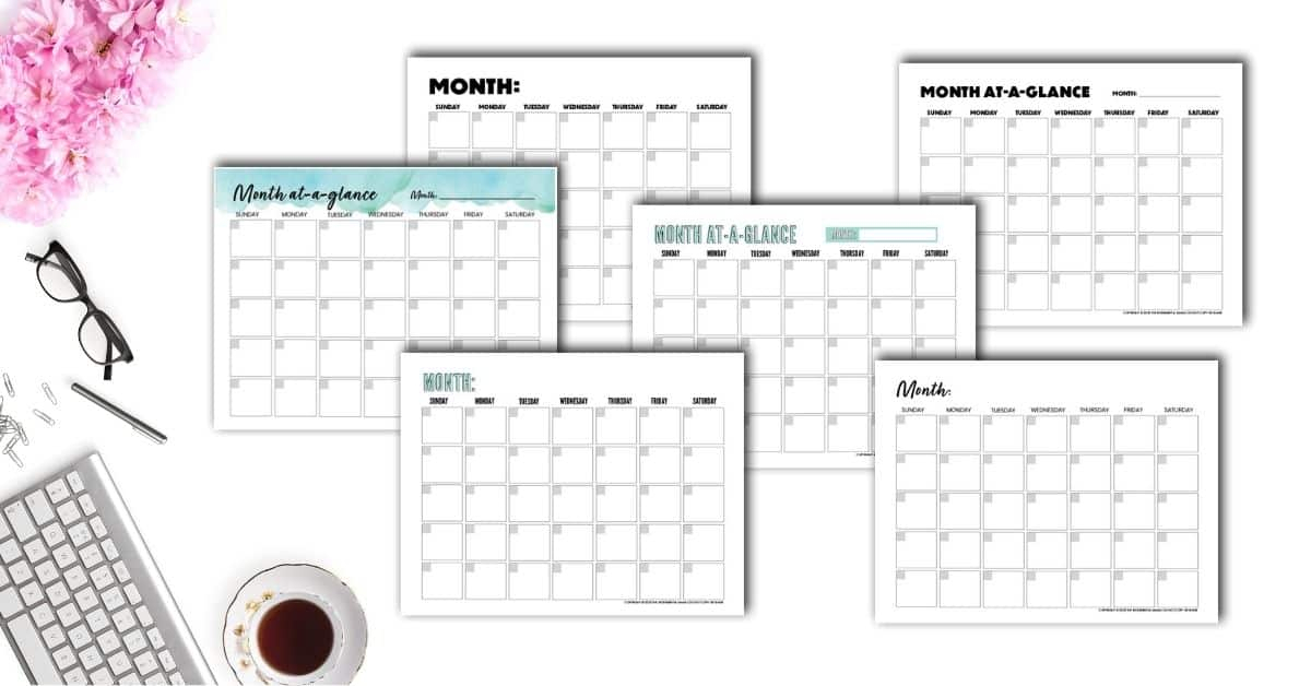Free Blank Monthly Calendar Template Pdf - The Incremental