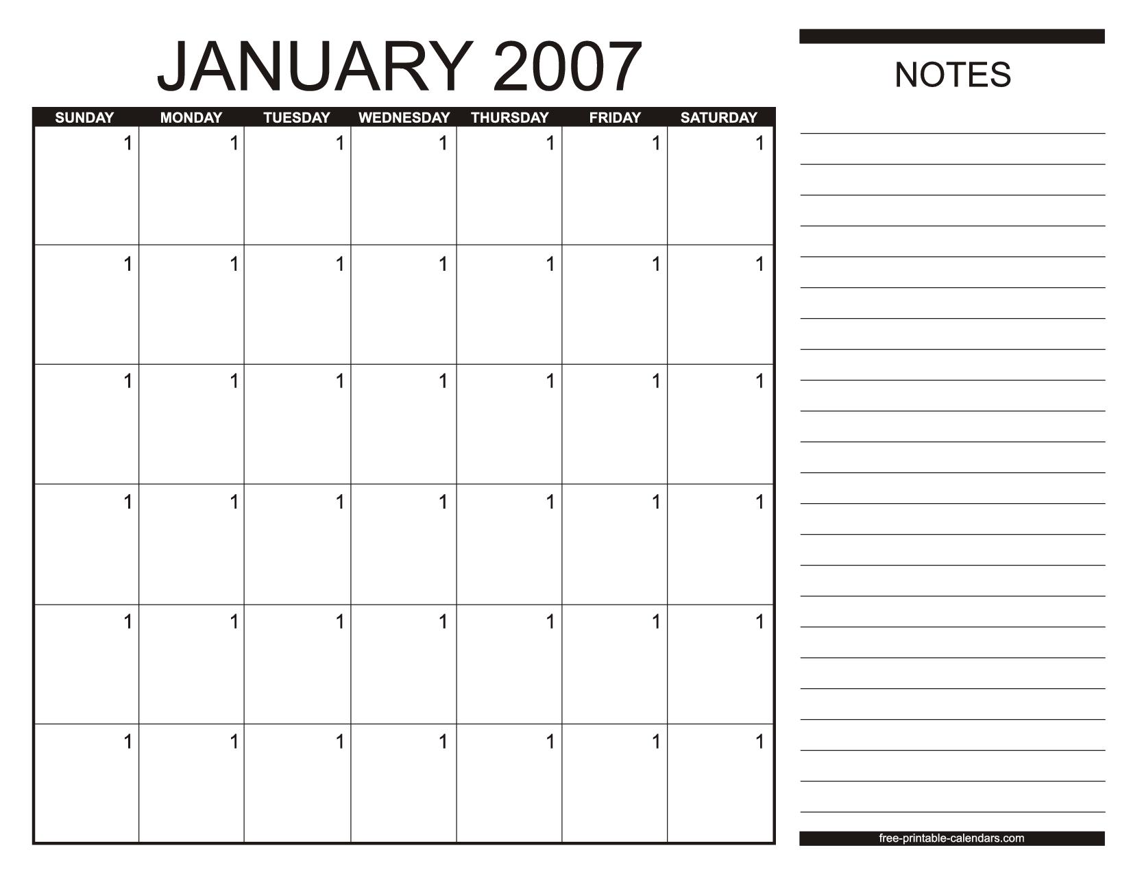 Free Calendar Templates - Fotolip