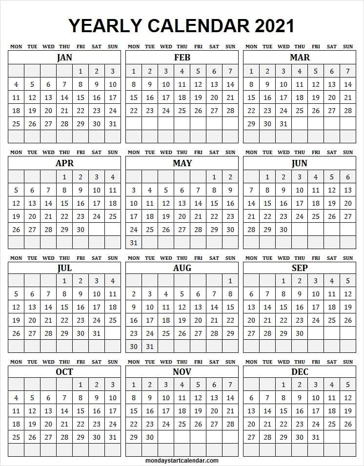 Free Downloadable 2021 Word Calendar / 2021 Printable Calendar Free Printable Calendar Com