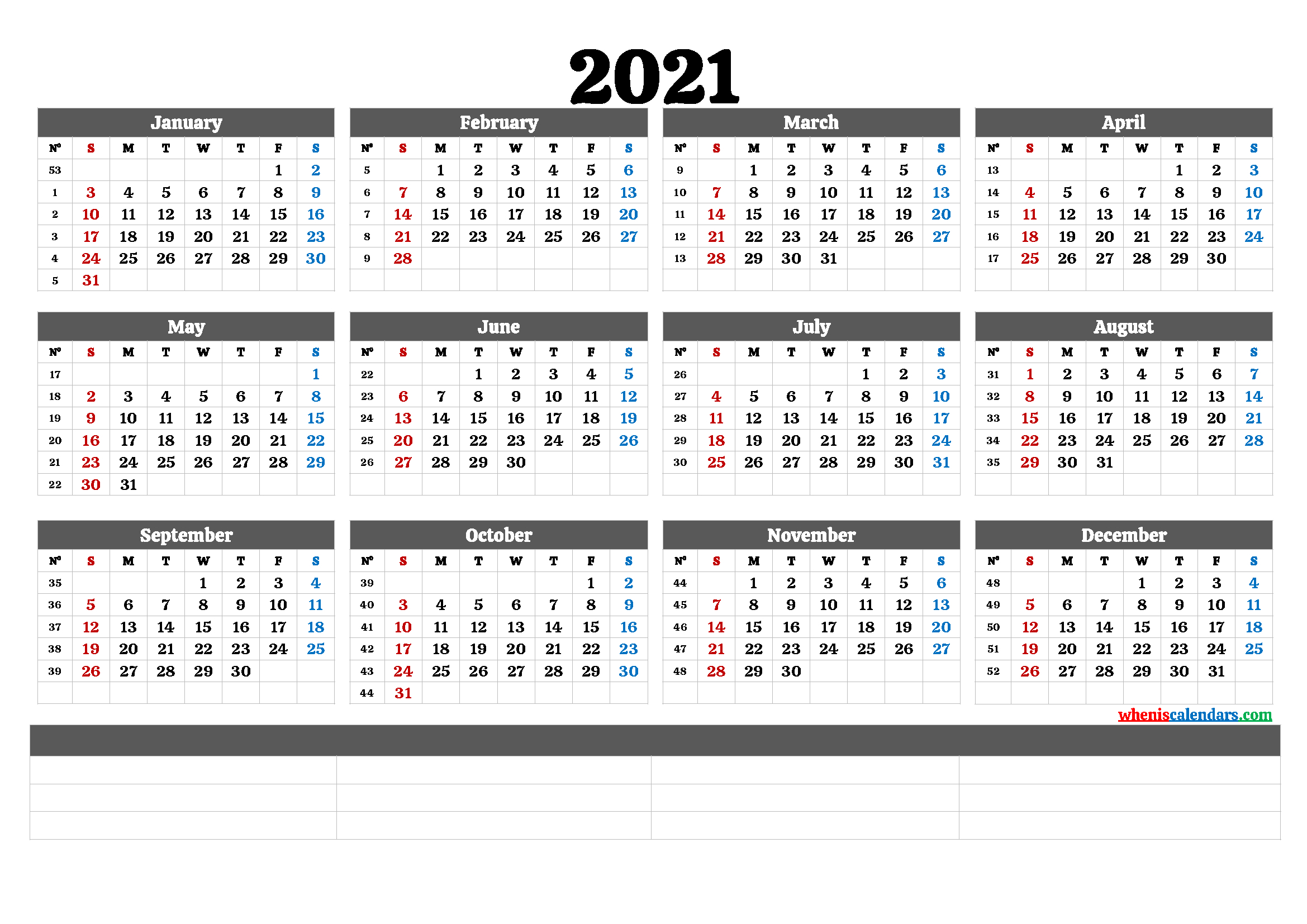 Free Editable Weekly 2021 Calendar : Free Fully Editable