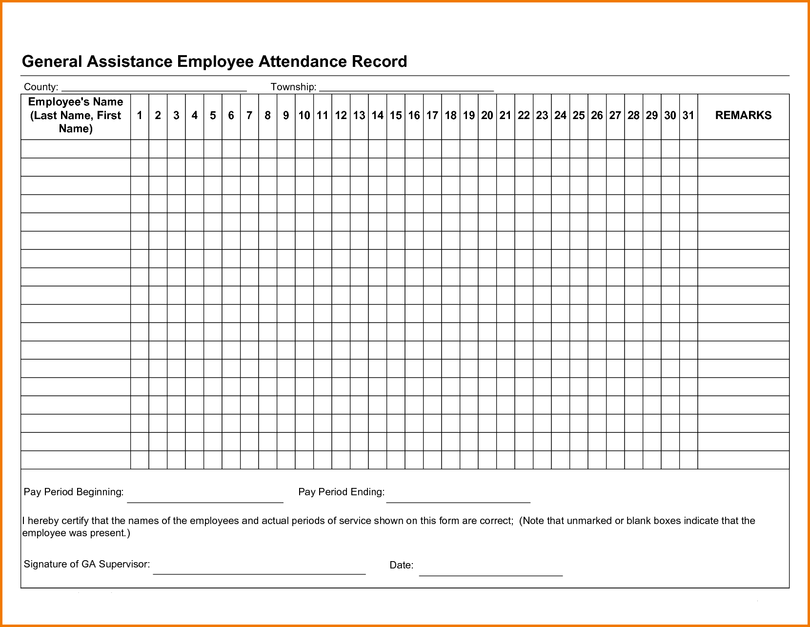 Free Employee Attendance Tracker Excel 2019 | Attendance