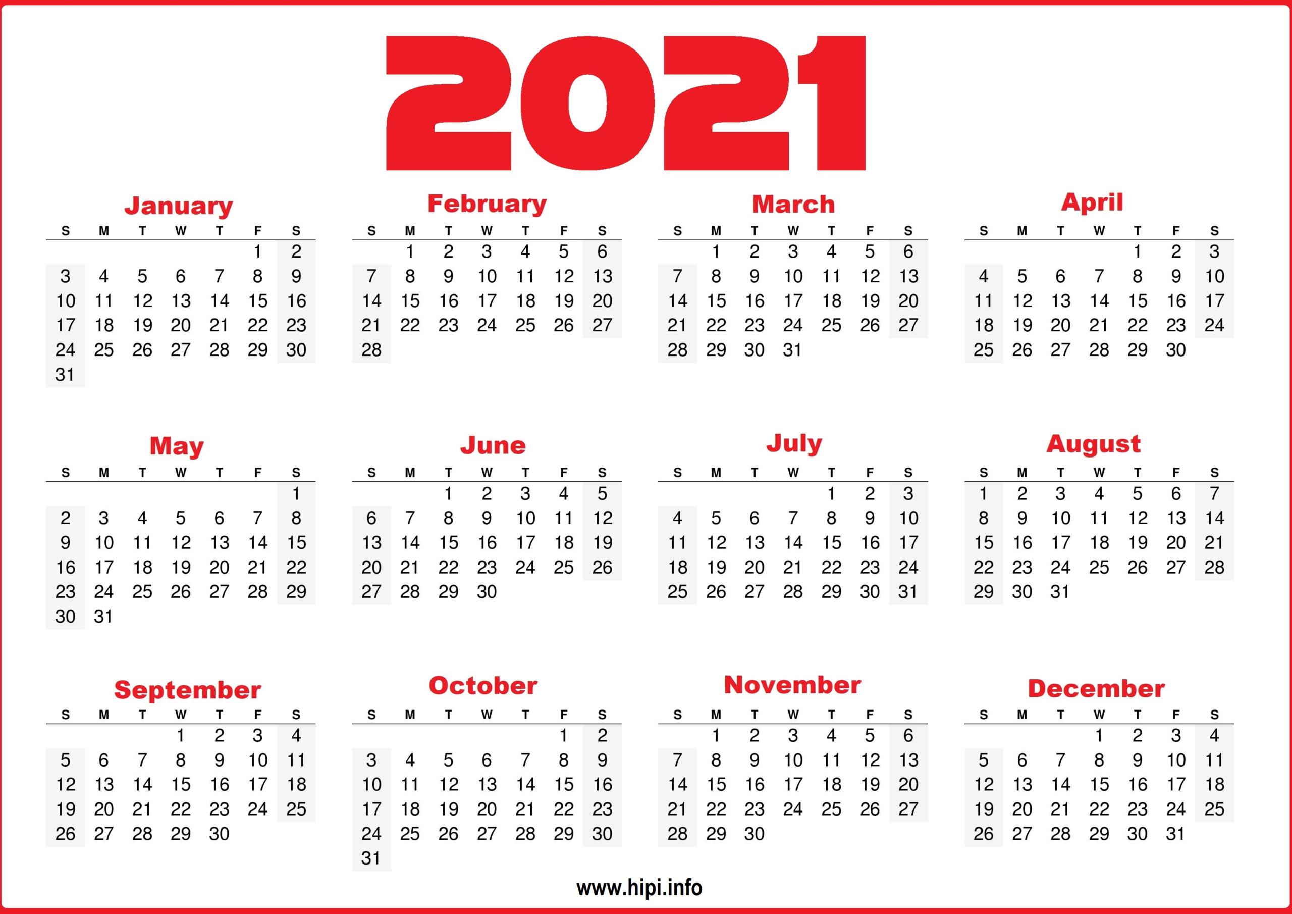 Free Printable 12 Month 2021 Calendar With Lines   Printable Calendars 2021