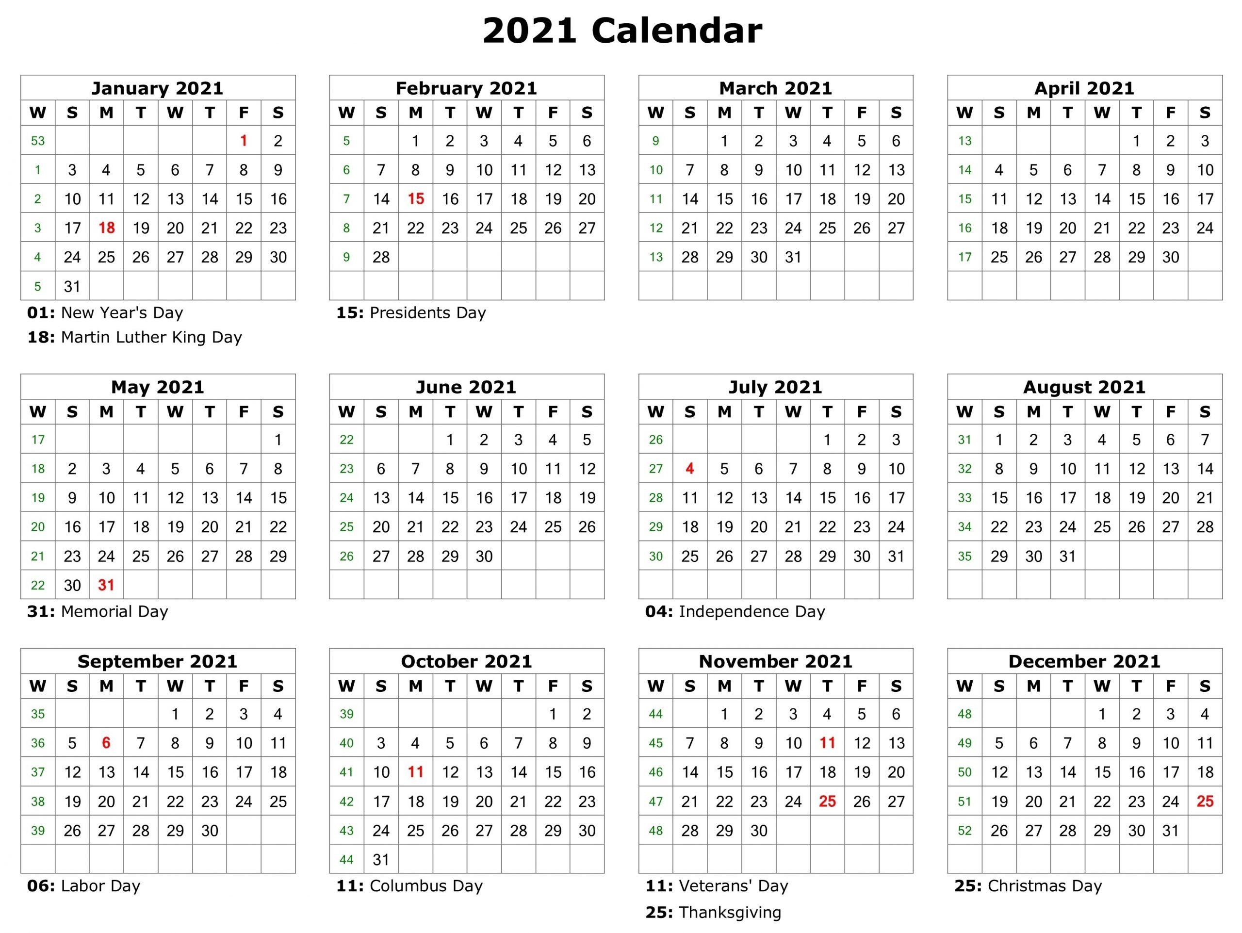 Free Printable 2021 Attendance Calendar | Calendar