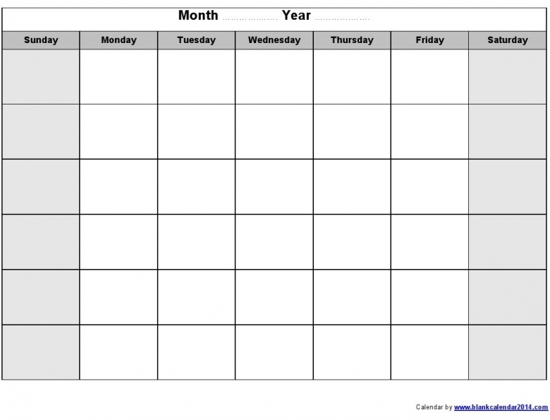Free Printable And Editable Monthly Calendar Templates