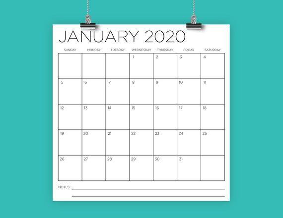 Free Printable Calendar Big Squares | Calendar Printables Free Blank