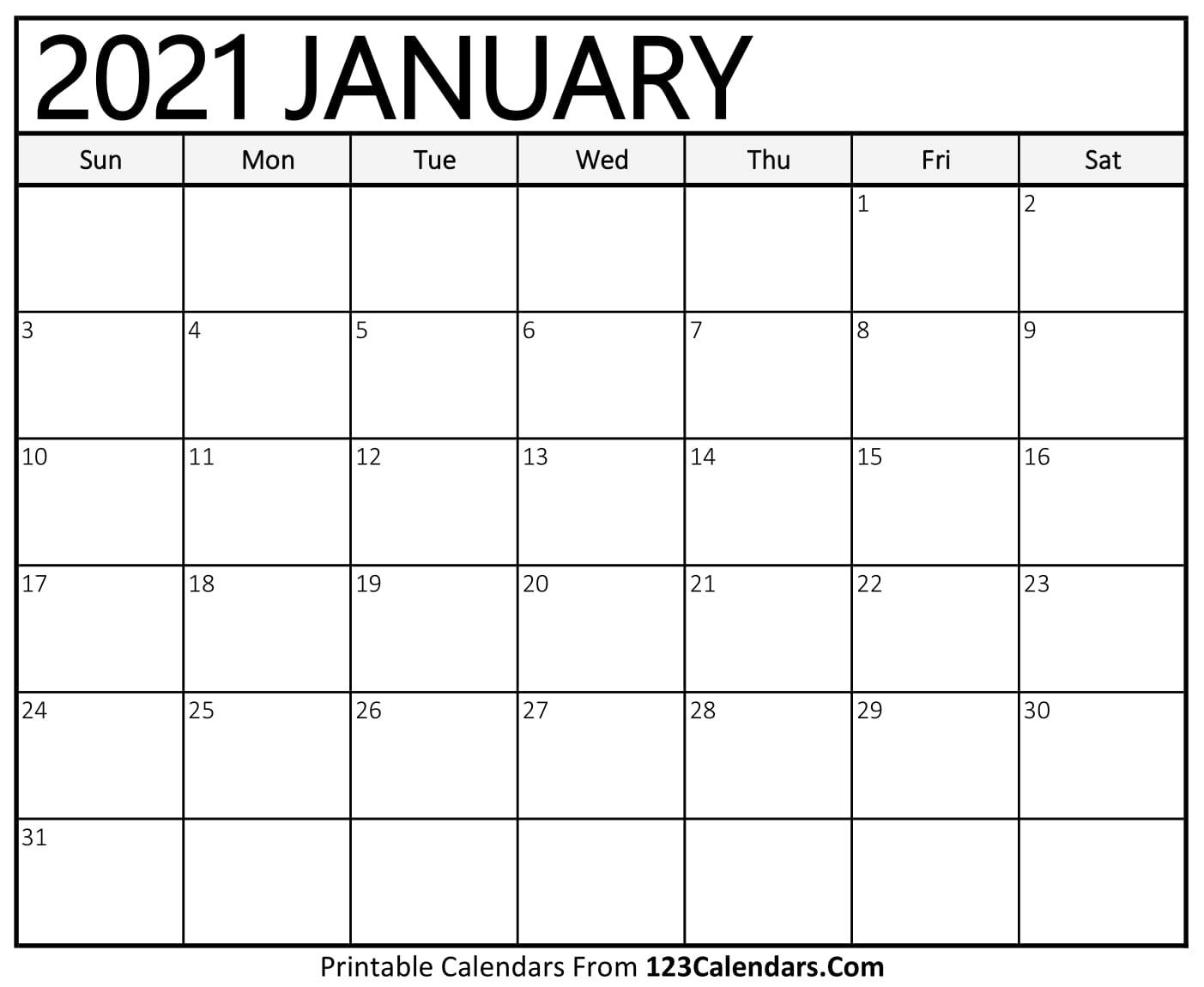 Free Printable Family Calendar 2021 | Free 2021 Printable