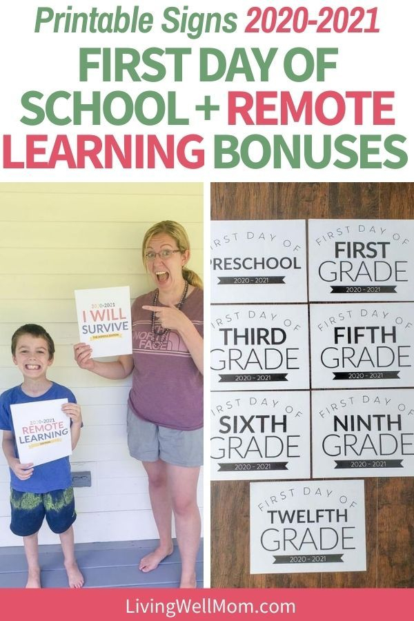 Free Printable First Day Of School Sign For All Grades