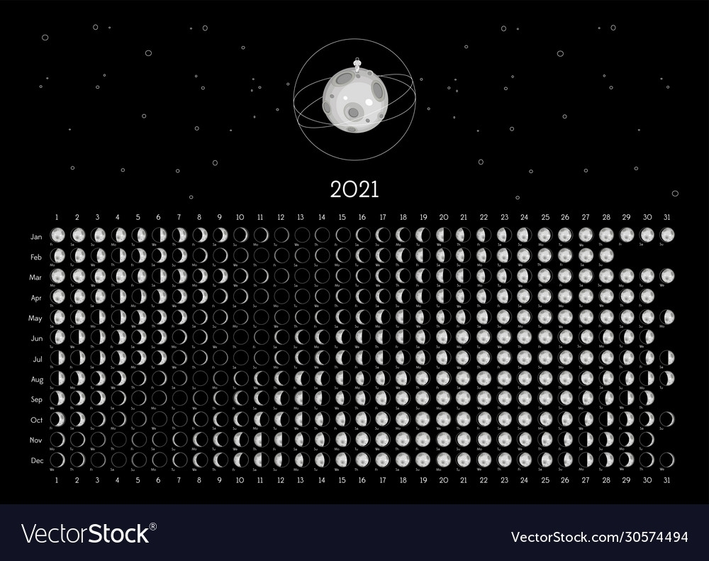 Free Printable Moon Calendar 2021   Month Calendar Printable