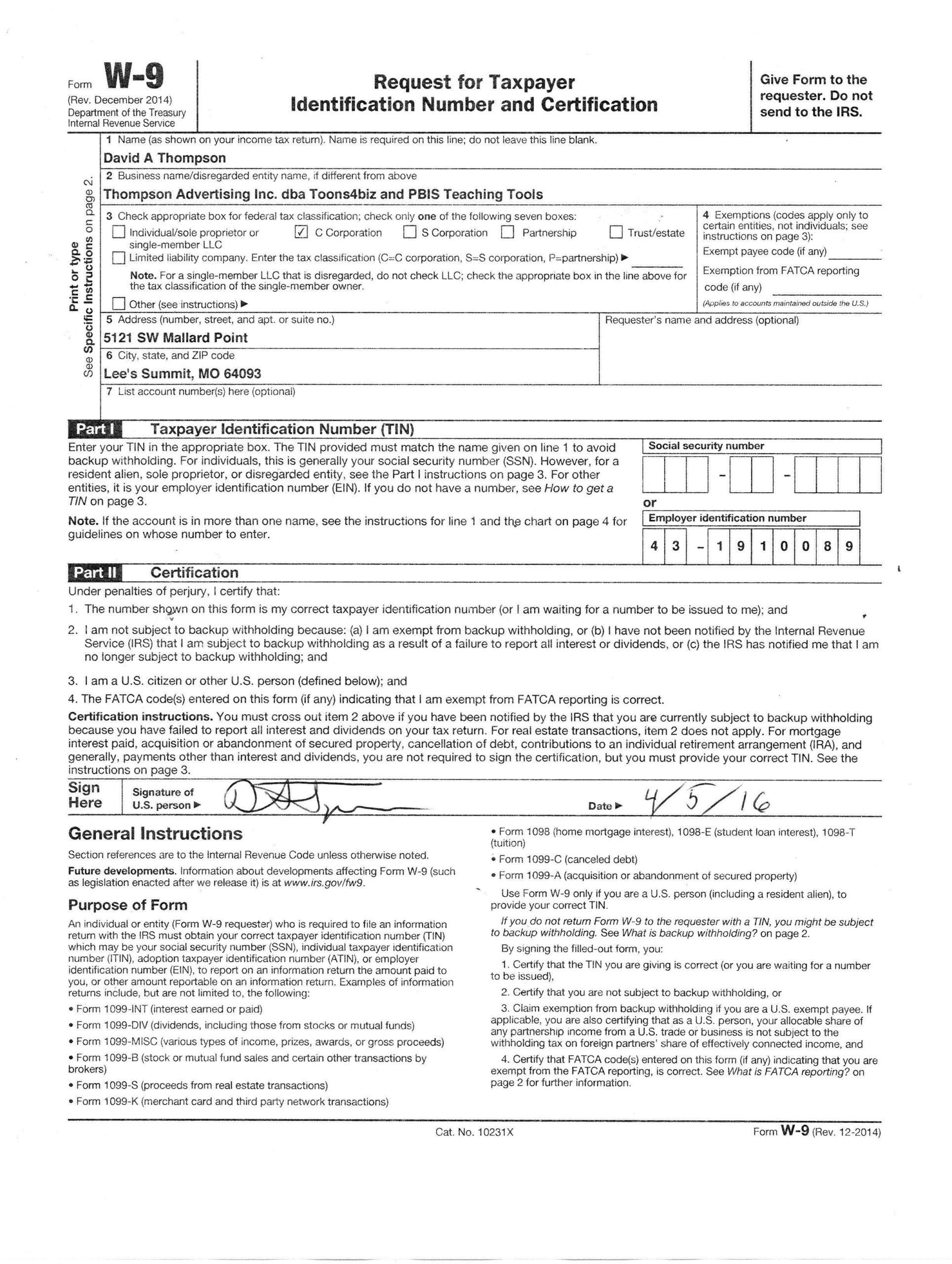 Free W9 Forms 2021 Printable Pdf | Calendar Printables