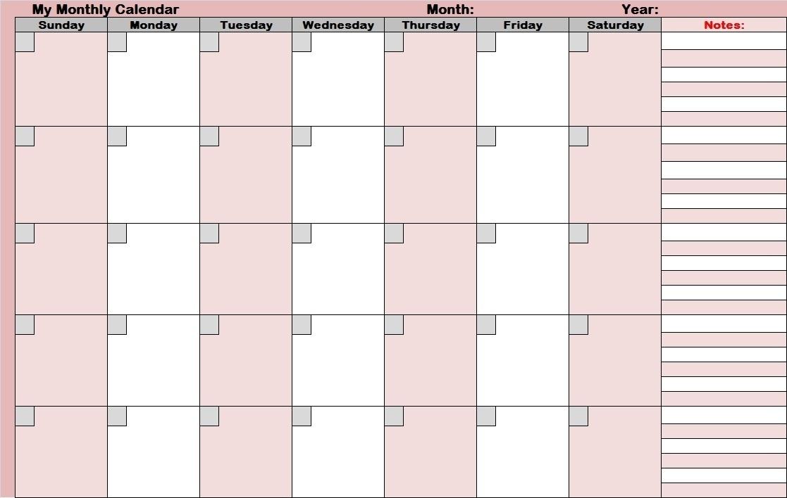 Full Size Printable Monthly Calendars - Calendar