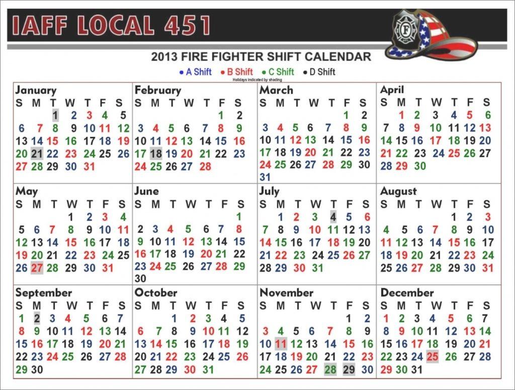 Houston Fire 2021 Shift Calendar | Printable Calendar 2020