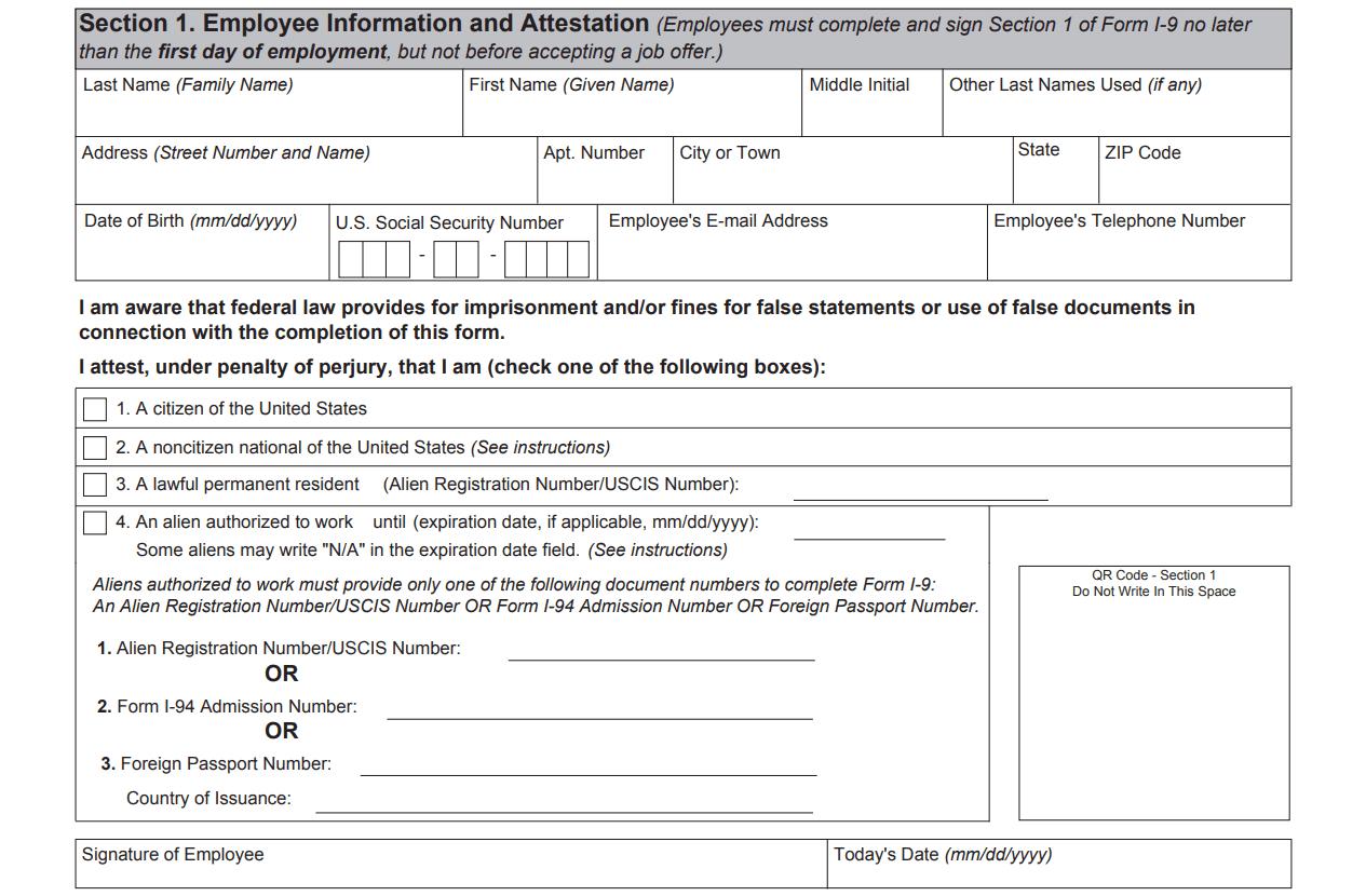 I9 Form 2020 - I-9 Forms | I9 Form 2021 Printable