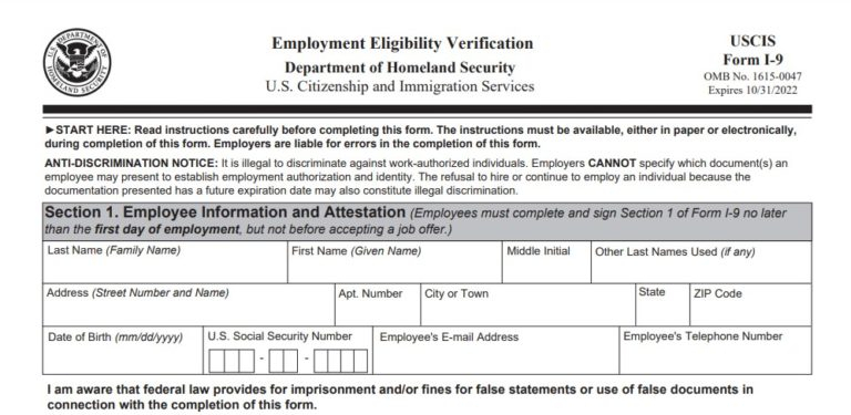 I9 Form 2021 Printable, Fillable - Part 100