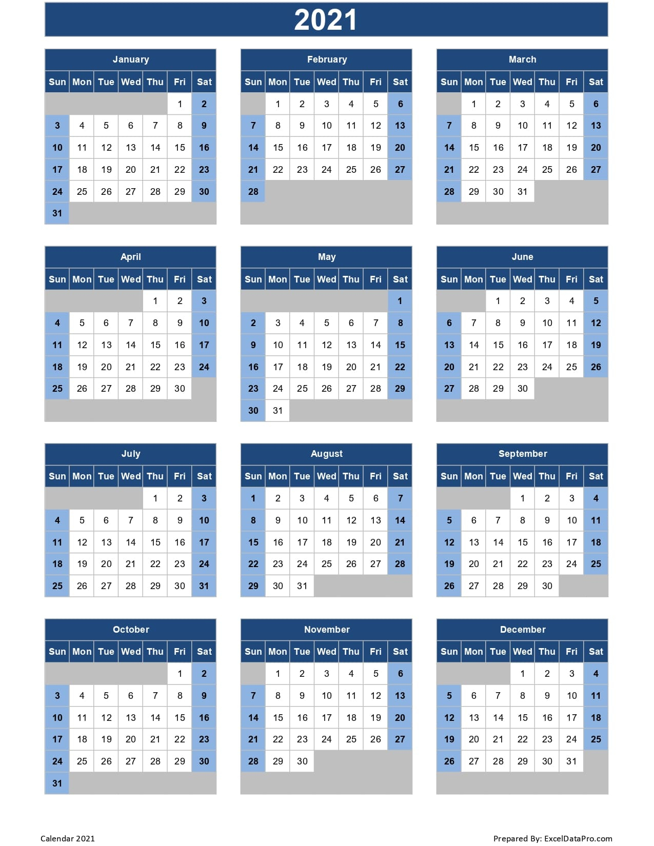 Julian Calendar 2021 Excel | Free Printable Calendar