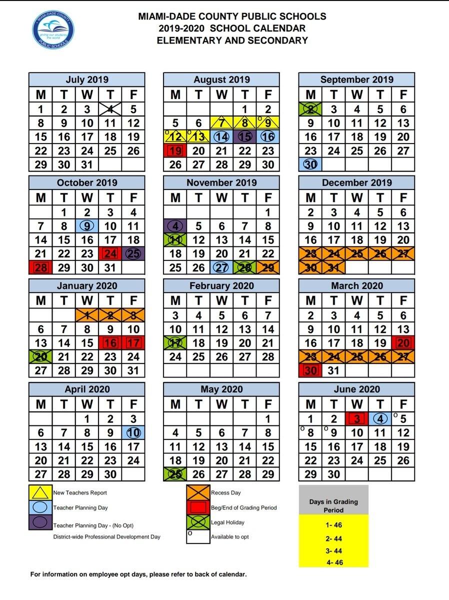 Miami Dade County Public School Calendar 2021 2020