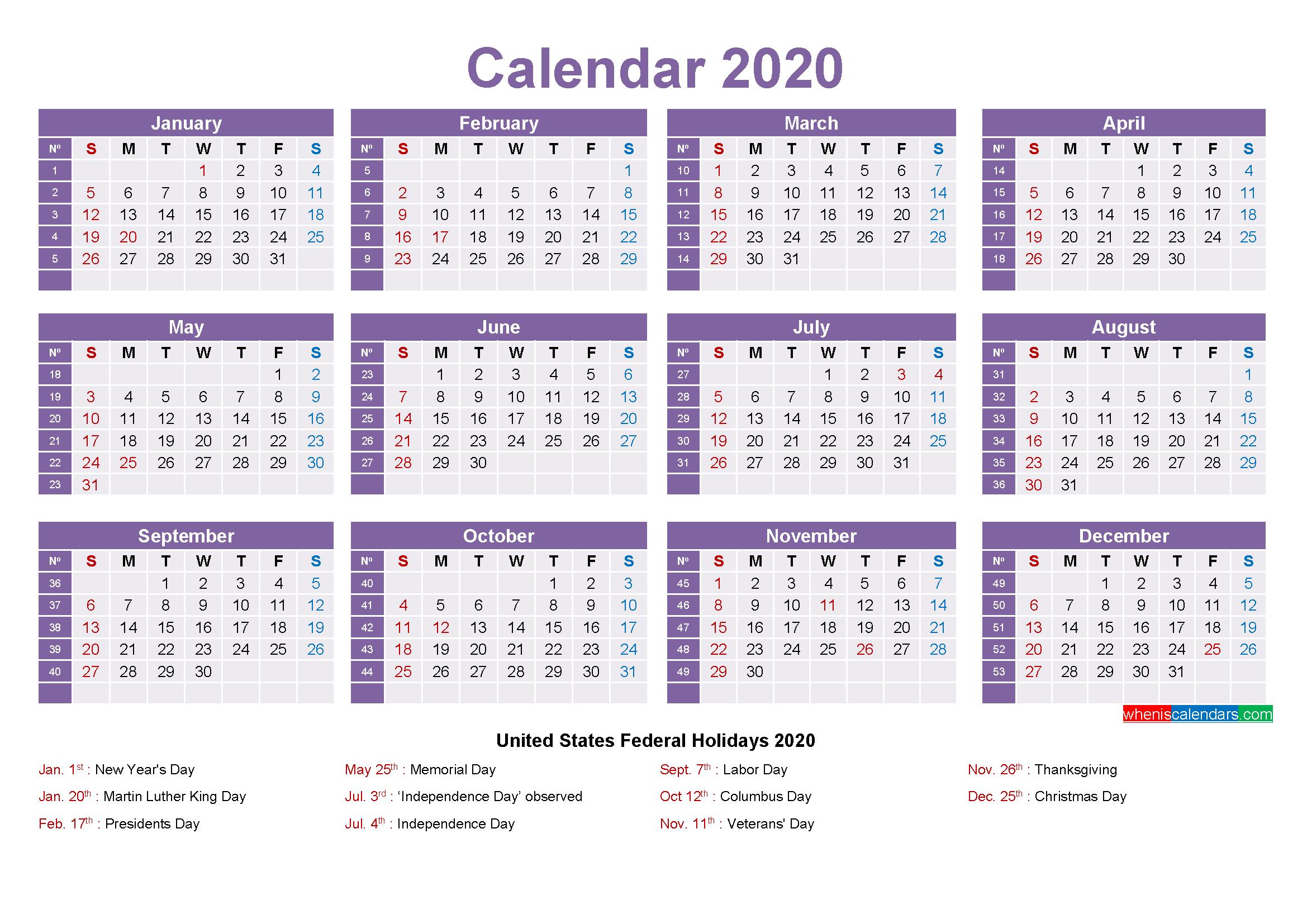 Mini Desk Calendar 2020 Free Printable - Free Printable