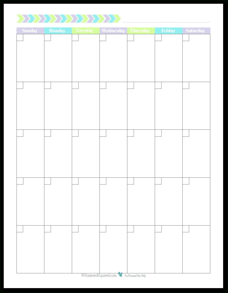 Monday To Friday Printable Monthly Calendar   Calendar