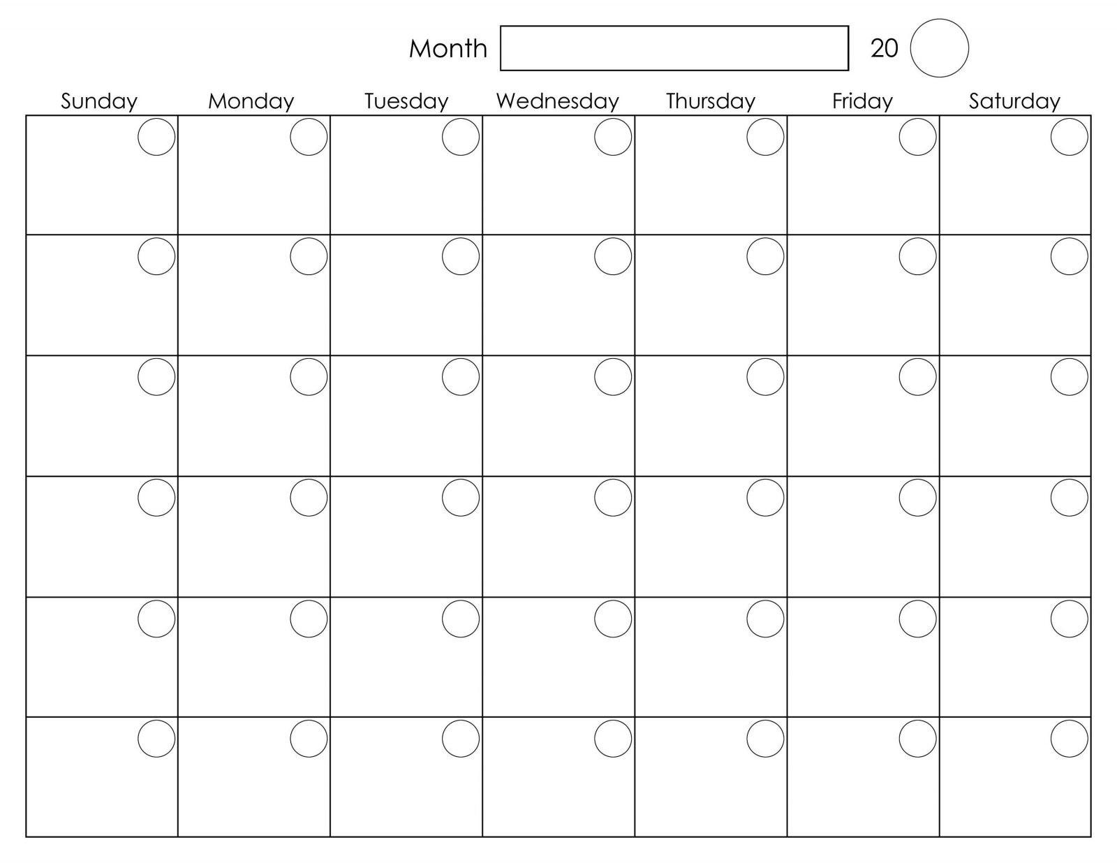 Monday To Friday Weekly Calendar   Ten Free Printable