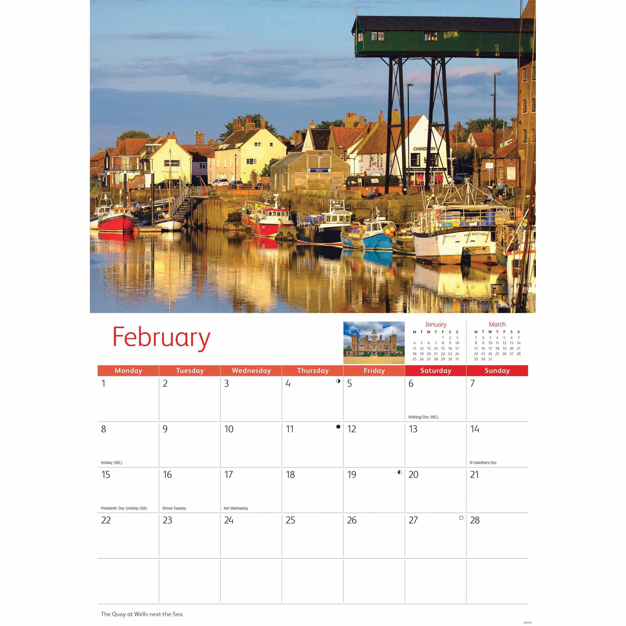 Norfolk A4 Calendar 2021 At Calendar Club