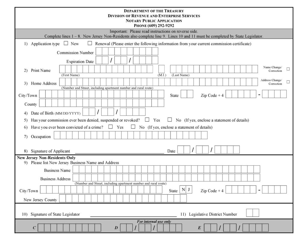 Notary Public For I 9 Form New Jersey I9 Form Printable