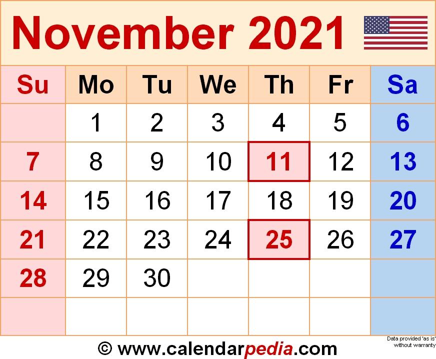 November 2021 Calendar 2 | Calvert Giving