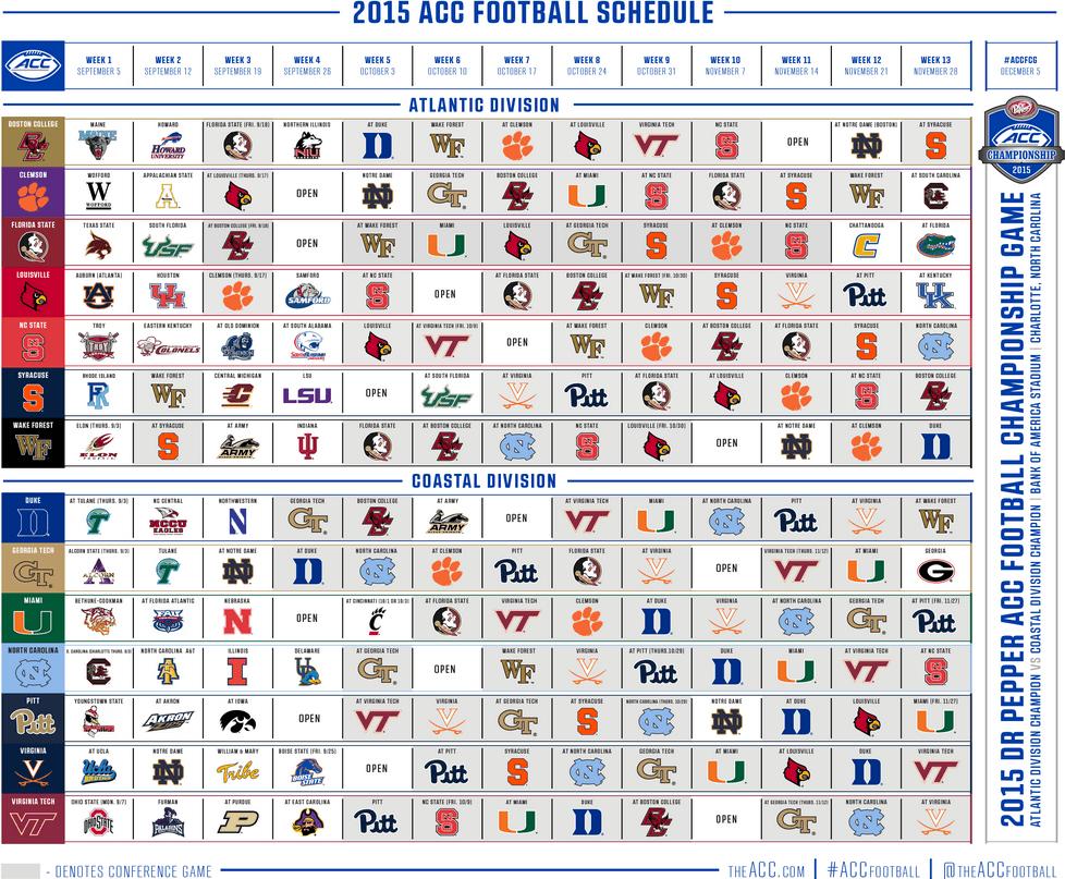Oklahoma State University 2015 Football Schedule