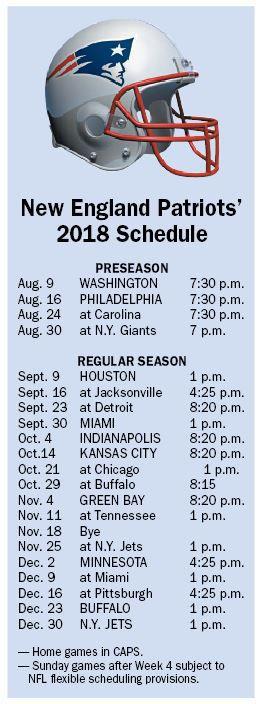 Patriots' 2018 Schedule Still A Prime-Time Attraction