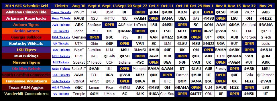 Print 2014 Sec Football Schedule - Sec12 - Sec Football