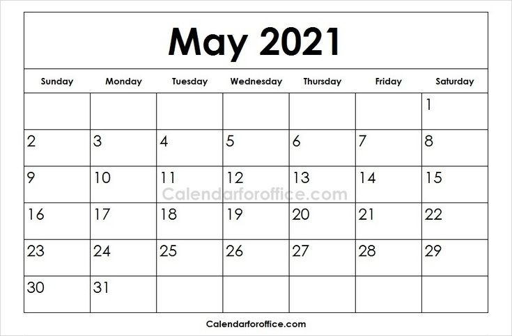 Printable 2021 May Calendar Images   Download May 2021 Templates   Calendar For Office   April